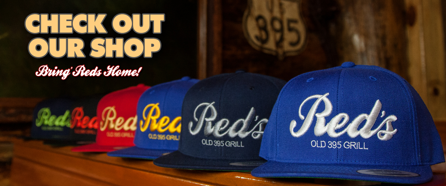 Red's Hats With 395 Sign & Store Correct Size