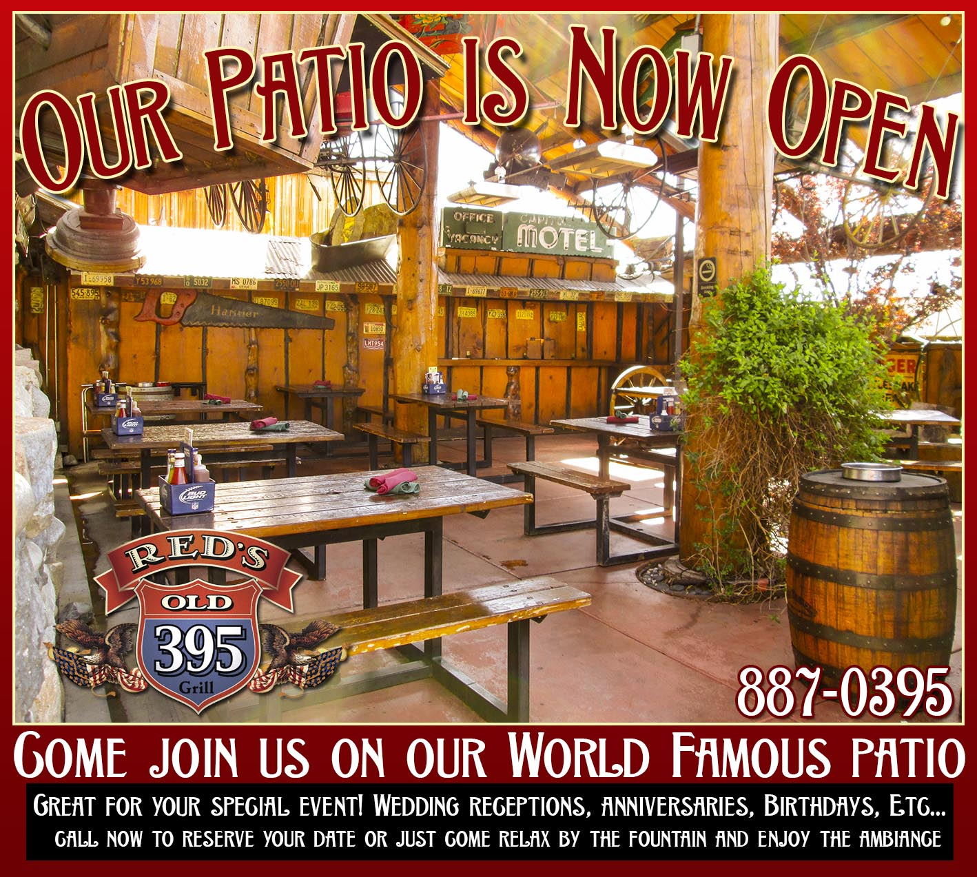 The Luxurious Patio - Our Patio is fully equipped with a gas-fired BBQ as well as a gas log fireplace. It is available for your use for personal and professional gatherings. We encourage weekend sports related functions.